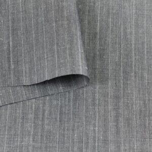 Шерсть костюмная серая в полоску