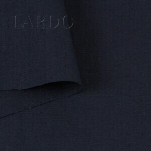 Лён костюмный тёмно-синий