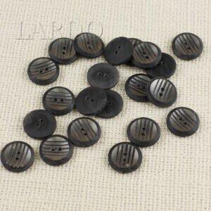 Пуговица пластик ∅ 1,7 см серая в полосочку