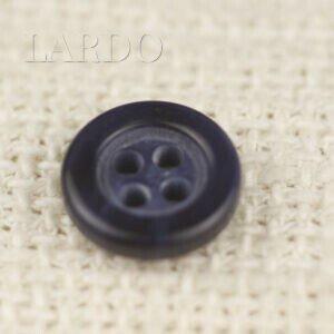 Пуговица пластик ∅ 1,7 см тёмно-синяя