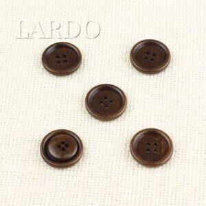 Пуговица пластик ∅ 2,0 см бежево-коричневая