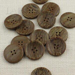 Пуговица пластик ∅ 3,0 см, серо-коричневая меланж