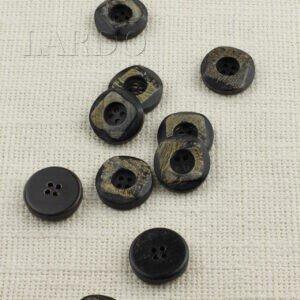 Пуговица пластик ∅ 2,2 см, чёрная
