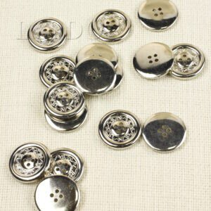 """Пуговица пластик серебристый никель с покрытием """"Этника"""" ∅ 3,0 см,"""