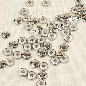 Пуговица пластик с покрытием, серебристая ∅ 2,1 см