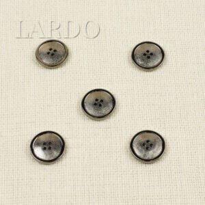 Пуговица пластик с покрытием тёмный никель ∅ 2,5 см