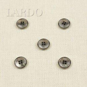 Пуговица пластик с покрытием тёмный никель ∅ 2,1 см
