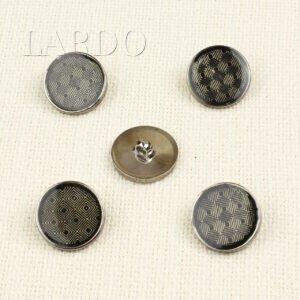 Пуговица пластик ∅ 2,5 см тёмный никель