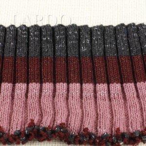 Подвяз трикотажный трёхцветный роза бордо чёрный