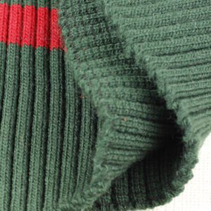 Подвяз трикотажный зелёный с красной полосой