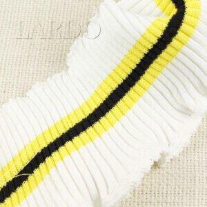 Подвяз трикотажный молочный с жёлто-чёрной полосой