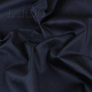 Сатин стретч хлопковый тёмно-синий