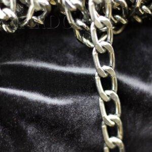 Цепь декоративная серебристая, плоское звено 15 х 25 мм