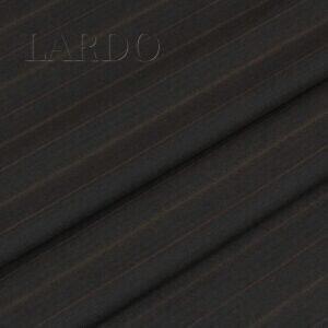 Шерсть костюмная чёрная в коричневую полоску VERGINE