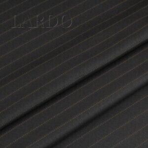 Шерсть костюмная тёмно-коричневая в бежевую полоску VERGINE