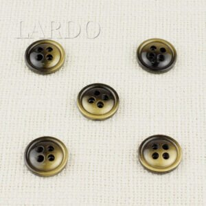 Пуговица пластик ∅ 1,5 см, чернёное золото