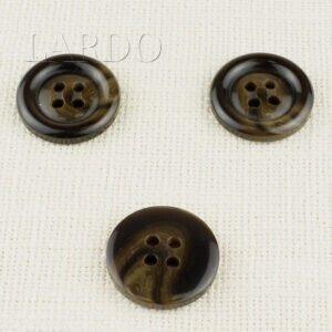 Пуговица пластик ∅ 3,0 см, чернёное золото
