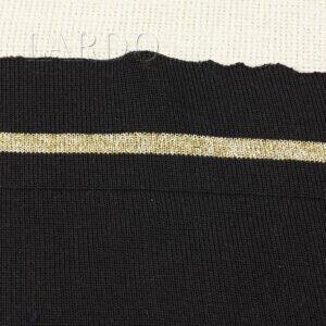 Подвяз трикотажный чёрный с золотой полоской