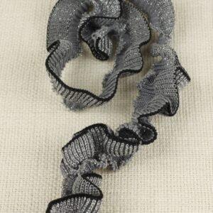Подвяз трикотажный серый с чёрной полосой