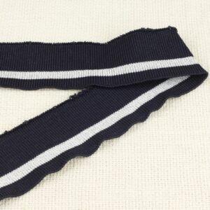 Подвяз трикотажный тёмно-синий с белой полосой 4 см × 55 см