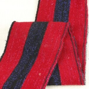Подвяз трикотажный красивый красный с синей полоской люрекс