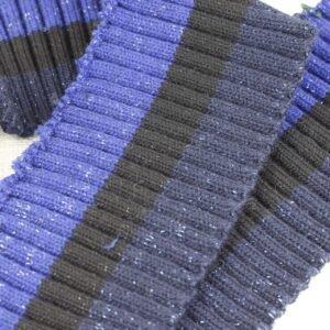 Подвяз трикотажный синий/тёмно-синий люрекс 9 см × 120 см