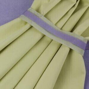 101 Бархат х/б лаванда - сатин стретч лимонный крем