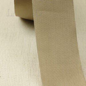 Репсовая лента бежевая шир. 4,9 см