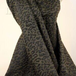 Жаккард леопард коричневый