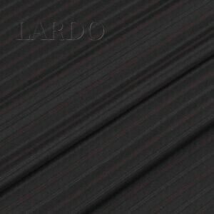 Шерсть костюмная чёрная в бежевую и красную полоску VERGINE