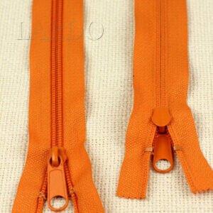 Молния неразъёмная, однозамковая, 15 см, №5, оранжевая