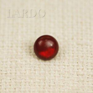 Пуговица пластик ∅ 1,0 см красная