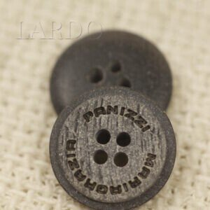 Пуговица MARIA GRAZIA PANIZZI пластик ∅ 1,5 см серая под камень