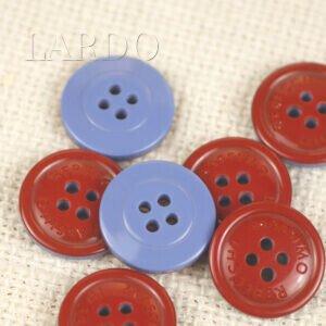 Пуговица пластик MASSIMO REBECCHI ∅ 2,0 см, красно-голубая