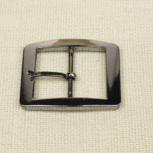 Пряжка металл цвета никеля 6,5 см x 5,5 см