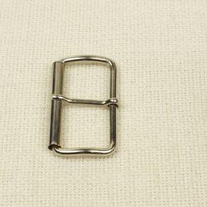 Пряжка металл цвета никеля 3,2 см x 5,7 см