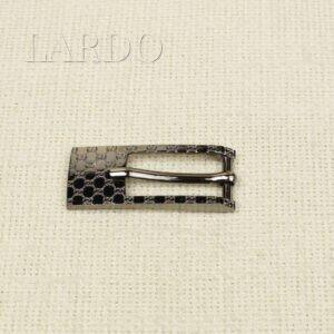 Пряжка металл цвета тёмного никеля 5,0 см x 2,0 см
