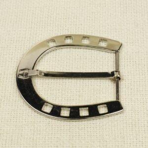 Пряжка AIGNER металл цвета никеля 7,5 см x 7,0 см