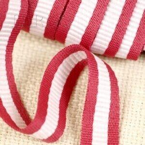 Тесьма красно-белая шир. 1,6 см