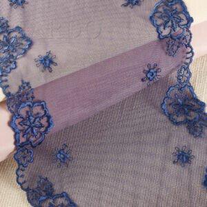 Кружево тёмно-синего цвета, шир.16 см
