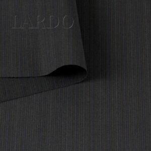 Шерсть костюмная в полоску тёмно-серая VERGINE