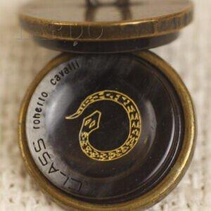 Пуговица змея металл ∅ 2,0 см