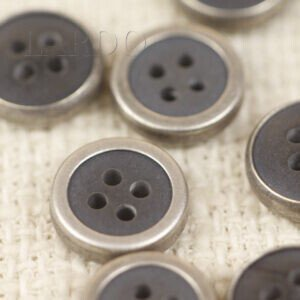 Пуговица металл пластик серая ∅ 1,0 см