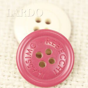 Пуговица пластик MASSIMO REBECCHI ∅ 2,0 см, розово-бежевая