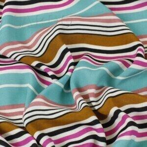 Вискоза плательная разноцветная полоска