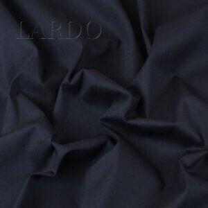 Поплин стретч хлопковый тёмно-синий