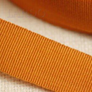 Репсовая лента х/б оранжевая шир. 2,4 см