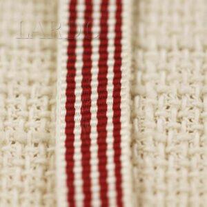 Репсовая лента вискоза красно-белая шир. 1,0 см