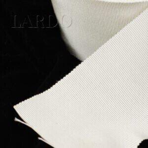 Репсовая лента вискоза хлопок белого цвета шир. 6,8 см