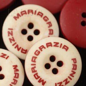 Пуговица пластик MARIA GRAZIA PANIZZI ∅ 4,3 см, бордово-бежевая
